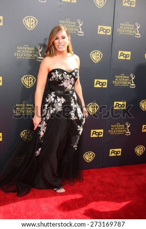 LOS ANGELES - APR 26:  Melissa Rivers at the 2015 Daytime Emmy Awards at the Warner Brothers Studio Lot on April 26, 2015 in Burbank, CA - stock photo