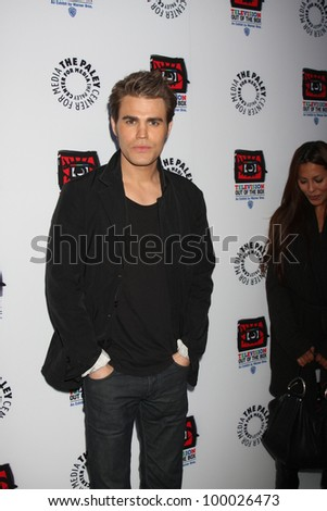 "LOS ANGELES - APR 12:  Paul Wesley arrives at Warner Brothers ""Television: Out of the Box"" Exhibit Launch at Paley Center for Media on April 12, 2012 in Beverly Hills, CA - stock photo"