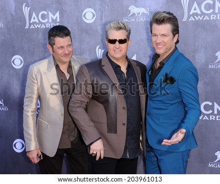 LOS ANGELES - APR 06:  Rascal Flatts arrives to the 49th Annual Academy of Country Music Awards   on April 06, 2014 in Las Vegas, NV.                 - stock photo