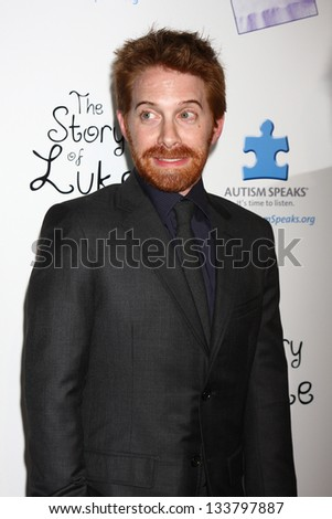 """LOS ANGELES - APR 2:  Seth Green arrives at """"The Story Of Luke"""" Los Angeles Premiere at the Music Hall Theater on April 2, 2013 in Beverly Hills, CA - stock photo"""