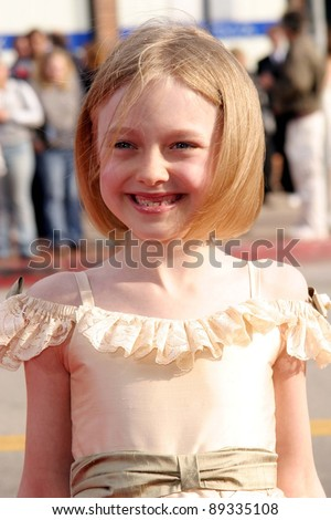 LOS ANGELES - APRIL 18: Dakota Fanning at the 'Man On Fire' premiere on April 18, 2004 in Westwood, Los Angeles, California - stock photo
