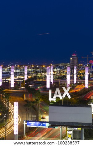 LOS ANGELES - APRIL 7: LAX airport on April 7, 2012 in Los Angeles, CA.the primary airport serving the Greater Los Angeles Area, the second-most populated metropolitan area in US(6th busiest airport) - stock photo