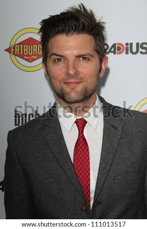 LOS ANGELES - AUG 23: Adam Scott at the premiere of RADiUS-TWC's 'Bachelorette' at ArcLight Cinemas on August 23, 2012 in Los Angeles, California - stock photo