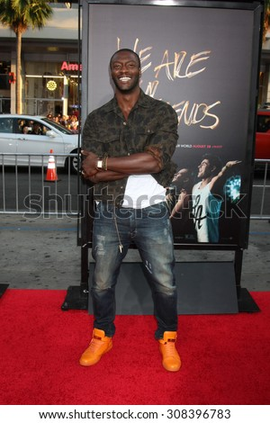 "LOS ANGELES - AUG 20:  Aldis Hodge at the ""We are Your Friends"" Los Angeles Premiere at the TCL Chinese Theater on August 20, 2015 in Los Angeles, CA - stock photo"