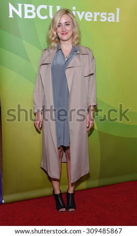 LOS ANGELES - AUG 12:  Ashley Johnson arrives to the arrives to the Summer 2015 TCA's - NBCUniversal  on August 12, 2015 in Beverly Hills, CA                 - stock photo