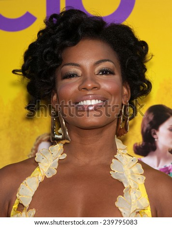 "LOS ANGELES - AUG 09:  AUNJANUE ELLIS arrives to the ""The Help"" World Premiere  on August 09, 2011 in Beverly Hills, CA                 - stock photo"