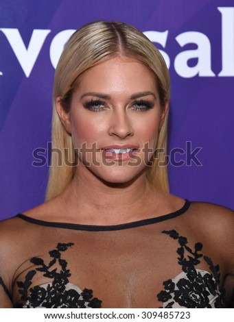 LOS ANGELES - AUG 12:  Barbie Blank arrives to the arrives to the Summer 2015 TCA's - NBCUniversal  on August 12, 2015 in Beverly Hills, CA                 - stock photo