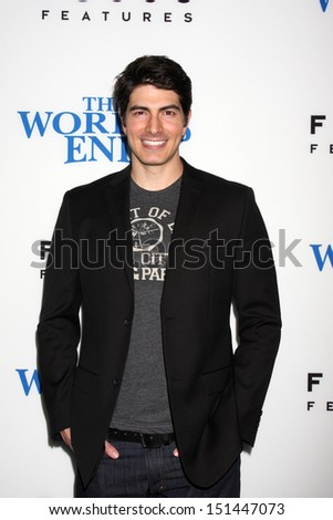 "LOS ANGELES - AUG 21:  Brandon Routh at ""The World's End"" Premiere at the ArcLight Hollywood Theaters on August 21, 2013 in Los Angeles, CA - stock photo"