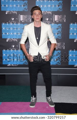 LOS ANGELES - AUG 30:  Brooklyn Beckham 2015 MTV Video Music Awards - Arrivals  on August 30, 2015 in Hollywood, CA                 - stock photo