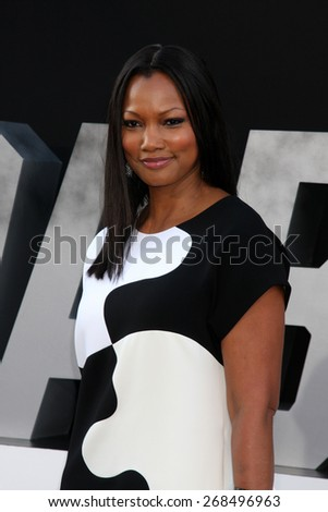 "LOS ANGELES - AUG 11:  Carcelle Beauvais at the ""Expendables 3"" Premiere at TCL Chinese Theater on August 11, 2014 in Los Angeles, CA  - stock photo"