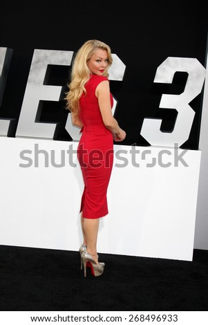 "LOS ANGELES - AUG 11:  Charlotte Ross at the ""Expendables 3"" Premiere at TCL Chinese Theater on August 11, 2014 in Los Angeles, CA  - stock photo"