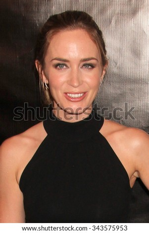 LOS ANGELES - AUG 13:  Emily Blunt at the HFPA Hosts Annual Grants Banquet - Arrivals at the Beverly Wilshire Hotel on August 13, 2015 in Beverly Hills, CA - stock photo