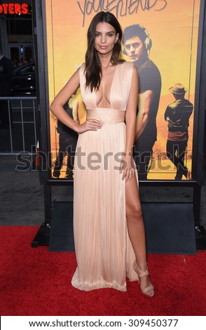 "LOS ANGELES - AUG 20:  Emily Ratajkowski arrives to the ""We Are Your Friends"" Los Angeles Premiere  on August 20, 2015 in Hollywood, CA                 - stock photo"