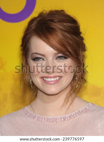 """LOS ANGELES - AUG 09:  EMMA STONE arrives to the """"The Help"""" World Premiere  on August 09, 2011 in Beverly Hills, CA                 - stock photo"""