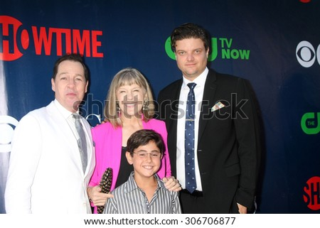 LOS ANGELES - AUG 10:  French Stewart, Mimi Kennedy, Blake Garrett Rosenthal, Matt Jones at the CBS TCA Summer 2015 Party at the Pacific Design Center on August 10, 2015 in West Hollywood, CA - stock photo