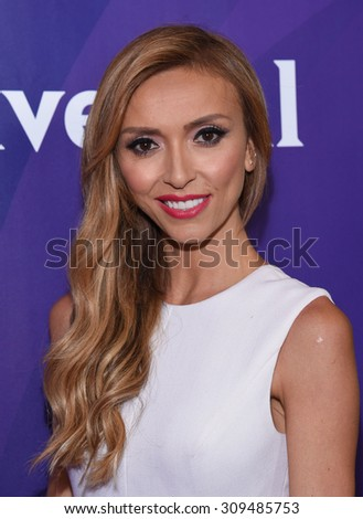 LOS ANGELES - AUG 12:  Giulianna Rancic arrives to the arrives to the Summer 2015 TCA's - NBCUniversal  on August 12, 2015 in Beverly Hills, CA                 - stock photo