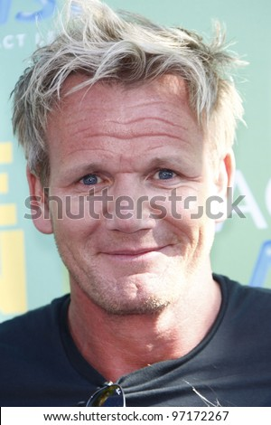 LOS ANGELES - AUG 7: Gordon Ramsey arrives at the 2011 Teen Choice Awards held at Gibson Amphitheatre on August 7, 2011 in Los Angeles, California - stock photo