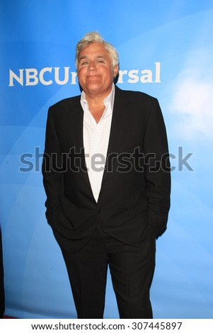 LOS ANGELES - AUG 13:  Jay Leno at the NBCUniversal 2015 TCA Summer Press Tour at the Beverly Hilton Hotel on August 13, 2015 in Beverly Hills, CA - stock photo