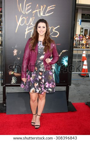 "LOS ANGELES - AUG 20:  Jillian Rose Reed at the ""We are Your Friends"" Los Angeles Premiere at the TCL Chinese Theater on August 20, 2015 in Los Angeles, CA - stock photo"