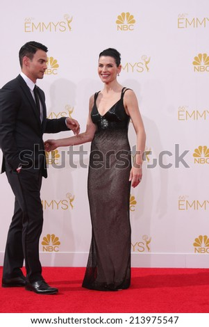 LOS ANGELES - AUG 25:  Julianne Margulies at the 2014 Primetime Emmy Awards - Arrivals at Nokia at LA Live on August 25, 2014 in Los Angeles, CA - stock photo