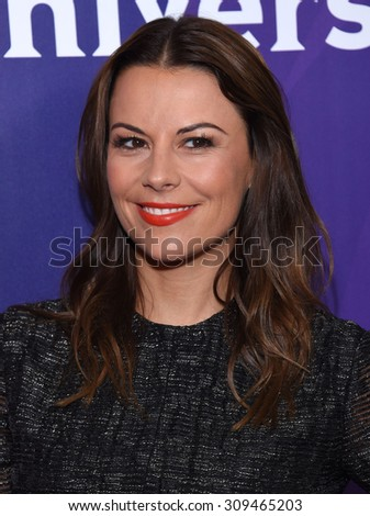 LOS ANGELES - AUG 12:  Juliet Angus arrives to the arrives to the Summer 2015 TCA's - NBCUniversal  on August 12, 2015 in Beverly Hills, CA                 - stock photo