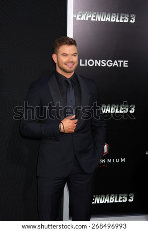 "LOS ANGELES - AUG 11:  Kellan Lutz at the ""Expendables 3"" Premiere at TCL Chinese Theater on August 11, 2014 in Los Angeles, CA  - stock photo"