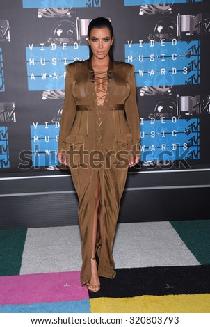 LOS ANGELES - AUG 30:  Kim Kardashian 2015 MTV Video Music Awards - Arrivals  on August 30, 2015 in Hollywood, CA                 - stock photo