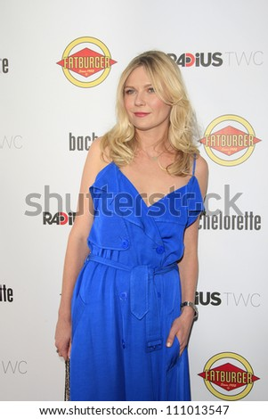 LOS ANGELES - AUG 23: Kirsten Dunst at the premiere of RADiUS-TWC's 'Bachelorette' at ArcLight Cinemas on August 23, 2012 in Los Angeles, California - stock photo