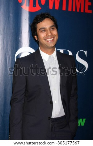 LOS ANGELES - AUG 10:  Kunal Nayyar at the CBS TCA Summer 2015 Party at the Pacific Design Center on August 10, 2015 in West Hollywood, CA - stock photo