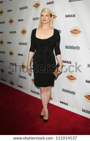 LOS ANGELES - AUG 23: Leslye Headland at the premiere of RADiUS-TWC's 'Bachelorette' at ArcLight Cinemas on August 23, 2012 in Los Angeles, California - stock photo