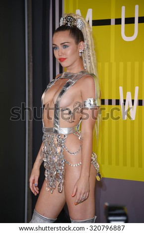 LOS ANGELES - AUG 30:  Miley Cyrus 2015 MTV Video Music Awards - Arrivals  on August 30, 2015 in Hollywood, CA                 - stock photo