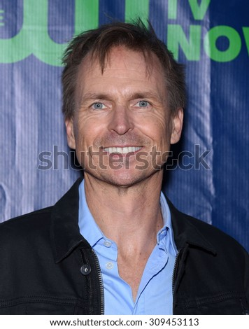 LOS ANGELES - AUG 10:  Phil Keoghan arrives to the Summer 2015 TCA's - CBS, The CW & Showtime  on August 10, 2015 in West Hollywood, CA                 - stock photo