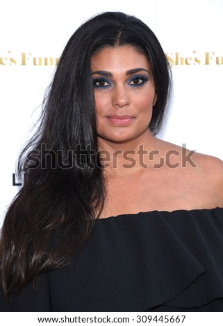 "LOS ANGELES - AUG 19:  Rachel Roy arrives to the ""She's Funny That Way"" Los Angeles Premiere  on August 19, 2015 in Hollywood, CA                 - stock photo"
