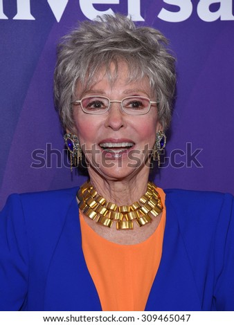 LOS ANGELES - AUG 12:  Rita Moreno arrives to the arrives to the Summer 2015 TCA's - NBCUniversal  on August 12, 2015 in Beverly Hills, CA                 - stock photo