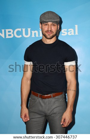 LOS ANGELES - AUG 13:  Ryan Guzman at the NBCUniversal 2015 TCA Summer Press Tour at the Beverly Hilton Hotel on August 13, 2015 in Beverly Hills, CA - stock photo