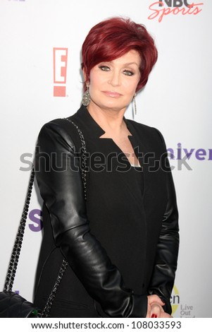 LOS ANGELES - AUG 1:  Sharon Osbourne arriving at the NBC TCA Summer 2011 Party at SLS Hotel on August 1, 2011 in Los Angeles, CA - stock photo