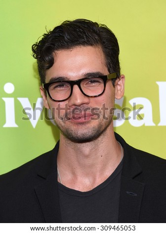LOS ANGELES - AUG 12:  Steven Strait arrives to the arrives to the Summer 2015 TCA's - NBCUniversal  on August 12, 2015 in Beverly Hills, CA                 - stock photo