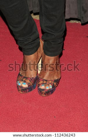 """LOS ANGELES - AUG 28:  Sufe Bradshaw arrives at """"You, Me & The Circus"""" Premiere at SupperClub on August  28, 2012 in Los Angeles, CA - stock photo"""