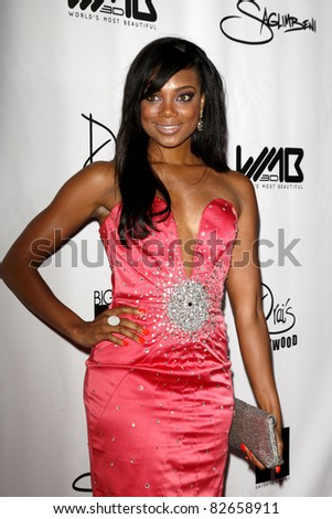 LOS ANGELES - AUG 10:  Tiffany Hines arriving at the World's Most Beautiful Magazine Launch Event at Drai's on August 10, 2011 in Los Angeles, CA - stock photo