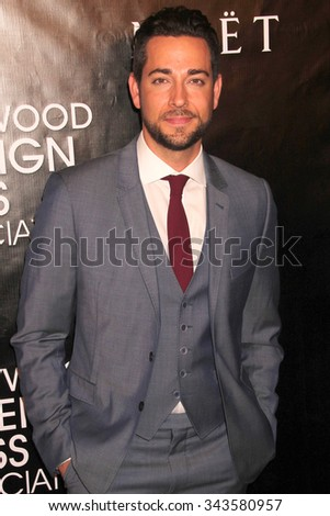 LOS ANGELES - AUG 13:  Zachary Levi at the HFPA Hosts Annual Grants Banquet - Arrivals at the Beverly Wilshire Hotel on August 13, 2015 in Beverly Hills, CA - stock photo