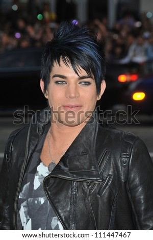 "LOS ANGELES, CA - APRIL 14, 2009: American Idol finalist Adam Lambert at the Los Angeles premiere of ""17 Again"" at Grauman's Chinese Theatre, Hollywood. - stock photo"