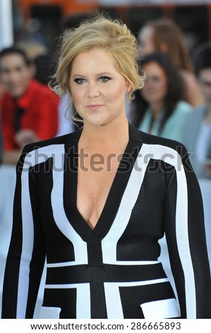 LOS ANGELES, CA - APRIL 12, 2015: Amy Schumer at the 2015 MTV Movie Awards at the Nokia Theatre LA Live.  - stock photo