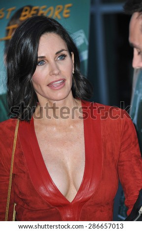 "LOS ANGELES, CA - APRIL 20, 2015: Courteney Cox at the premiere of her movie ""Just Before I Go"" at the Arclight Theatre, Hollywood.  - stock photo"