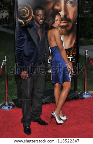 LOS ANGELES, CA - APRIL 20, 2009: Eva Pigford & fianc���½ Lance Gross at the Los Angeles premiere of The Soloist at Paramount Theatre, Hollywood. - stock photo