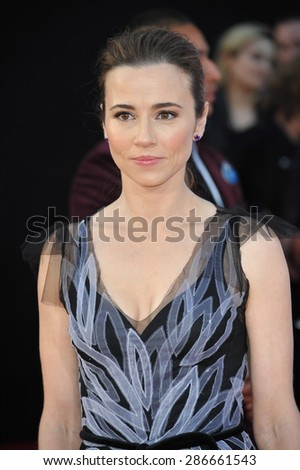 "LOS ANGELES, CA - APRIL 13, 2015: Linda Cardellini at the world premiere of ""Avengers: Age of Ultron"" at the Dolby Theatre, Hollywood.  - stock photo"