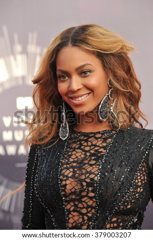 LOS ANGELES, CA - AUGUST 24, 2014: Beyonce Knowles at the 2014 MTV Video Music Awards at the Forum, Los Angeles. - stock photo