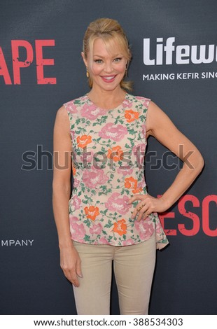 """LOS ANGELES, CA - AUGUST 17, 2015: Charlotte Ross at the Los Angeles premiere of """"No Escape"""" at the Regal Cinemas LA Live. - stock photo"""