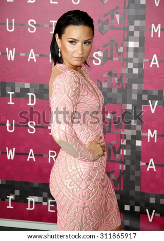 LOS ANGELES, CA - AUGUST 30, 2015: Demi Lovato at the 2015 MTV Video Music Awards held at the Microsoft Theater in Los Angeles, USA on August 30, 2015. - stock photo