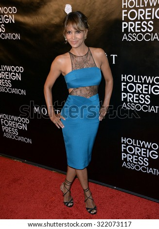 LOS ANGELES, CA - AUGUST 13, 2015: Halle Berry at the Hollywood Foreign Press Association's Grants Banquet at the Beverly Wilshire Hotel. 