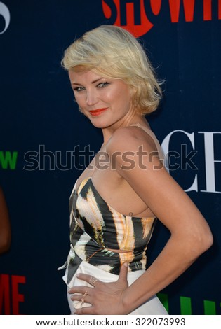 LOS ANGELES, CA - AUGUST 10, 2015: Malin Akerman at the CBS - Showtime & CW Summer TCA Party at the Pacific Design Centre, West Hollywood. - stock photo